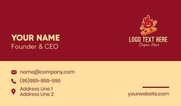 kickflip - Fire Skater Mascot Business card horizontal design