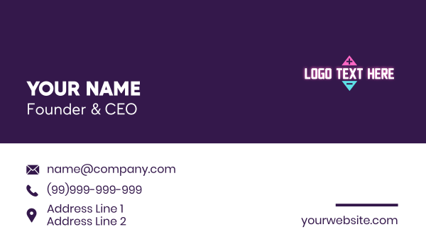 playing - Gaming Volume Wordmark Business card horizontal design