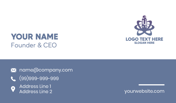 blue city - Urban Tower Galaxy Business card horizontal design