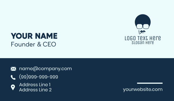 cigarette - Blue Boss Man  Business card horizontal design