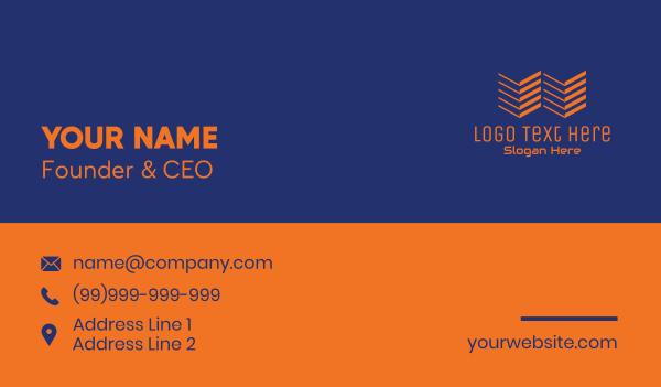 gadgets - Modern Tech Letter W  Business card horizontal design