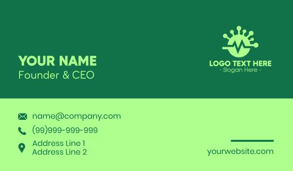 flatline - Green Virus Flatline Business card horizontal design