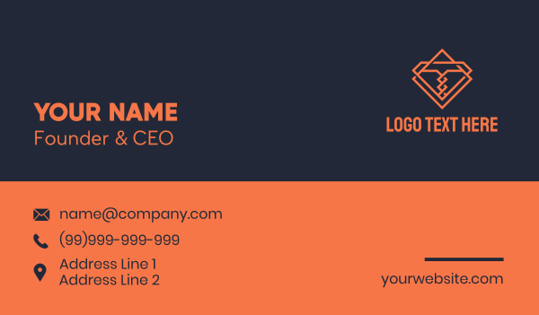 corkscrew - Monoline Corkscrew Letter T  Business card horizontal design