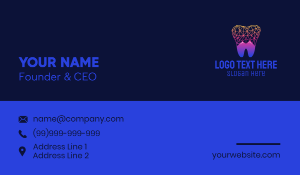 toothbrush - Mountain Toot Tech Business card horizontal design