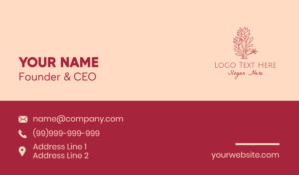 scent - Nature Wild Flowers  Business card horizontal design