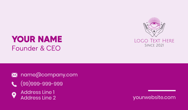 fortune telling - Astral Eye Cafe  Business card horizontal design
