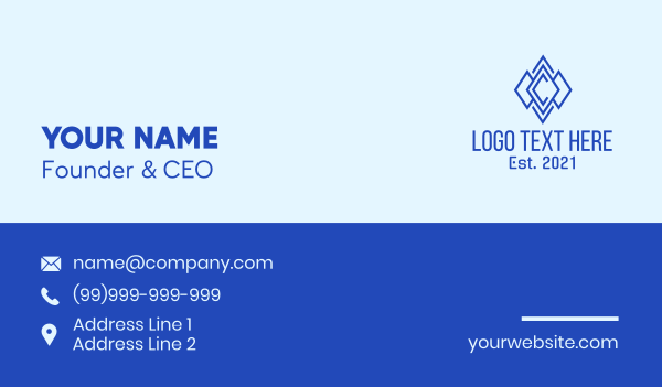 explore - Diamond Letter C Business card horizontal design