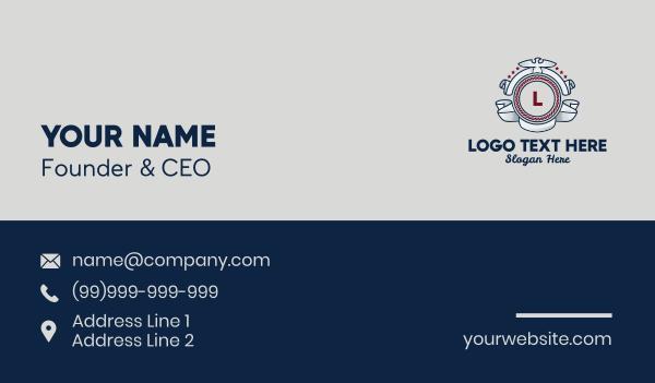 cruise ship - Pilot Emblem Lettermark Business card horizontal design