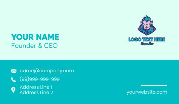 ape - Monkey Elf Character Business card horizontal design