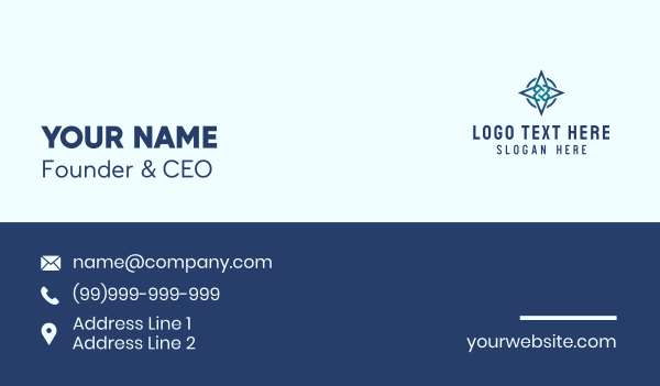 explore - Corporate Star  Business card horizontal design