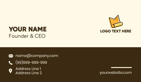 tax - Document Letter M Business card horizontal design