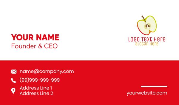 dietitian - Apple Slice Business card horizontal design