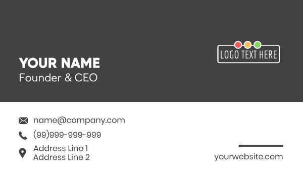 text logo - Traffic Lights Wordmark Business card horizontal design