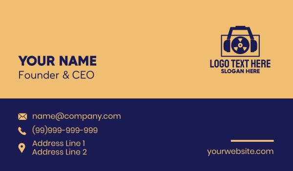 tape - Reel Tape Recorder  Business card horizontal design