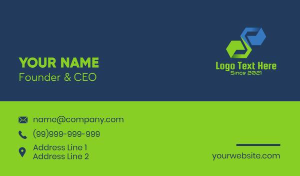 it expert - Digital Letter S Tech Business card horizontal design
