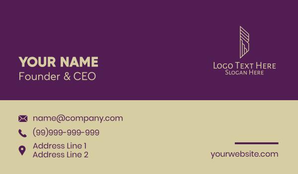 urban planner - Luxury Apartment Property Business card horizontal design