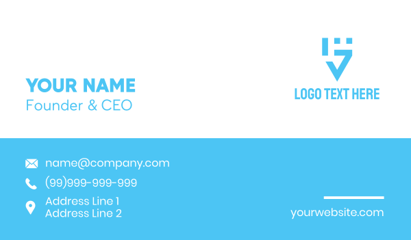 rally - Minimalist Fist Letter G Business card horizontal design