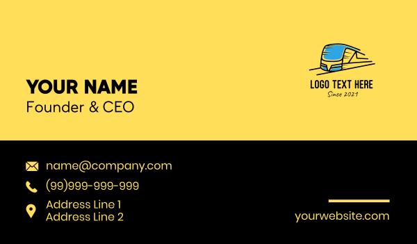 station - Express Train Transport Business card horizontal design