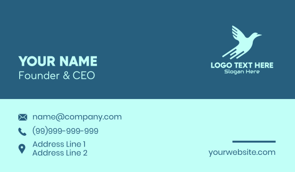 blue bird - Blue Bird Tech Business card horizontal design