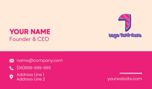 tattoo gallery - Pop Graffiti Number 1 Business card horizontal design