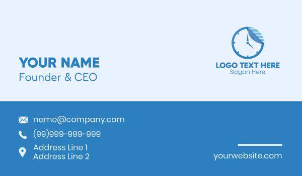tear - Sticker Paper Clock Business card horizontal design