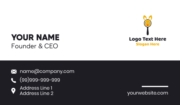 mirror - Bunny Mirror Business card horizontal design