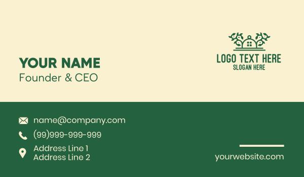 ecosystem - Green Vine Landscape House Business card horizontal design