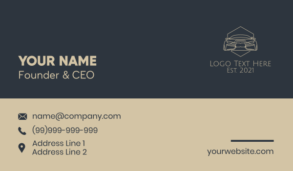 vulcanizing - Brown Automobile Badge Business card horizontal design