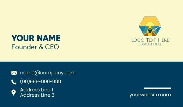 outdoor activity - Sunset Boat Lady  Business card horizontal design
