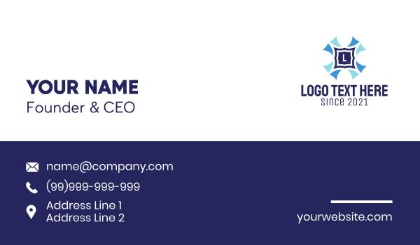 graphic design - Tile Design Lettermark  Business card horizontal design