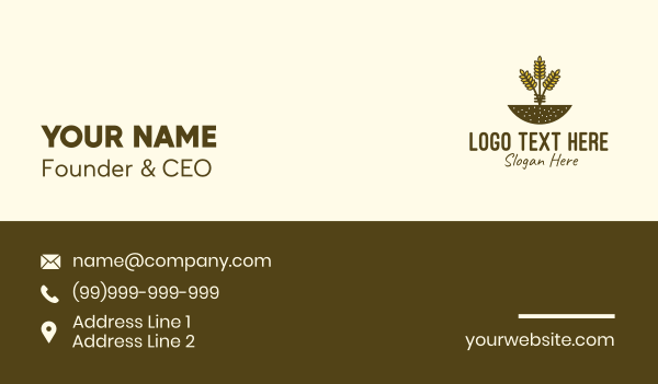 granary - Wheat Farm Crop Business card horizontal design
