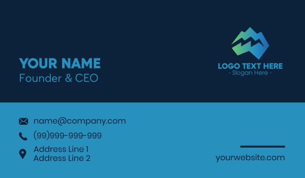crack - Modern Iceberg Crack Business card horizontal design