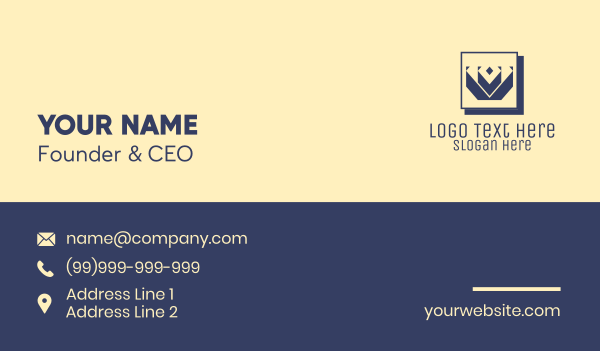 Professional Blue Crown Business Card