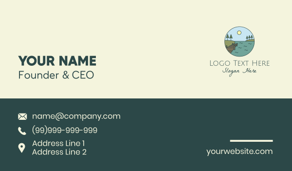 lakeside - Countryside Sea Dock Business card horizontal design