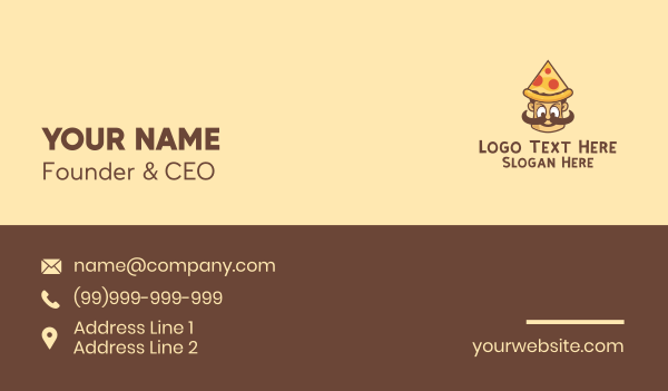 delivery man - Pizza Man Restaurant Business card horizontal design