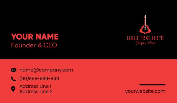 performance - Guitar Hand Instrument Business card horizontal design