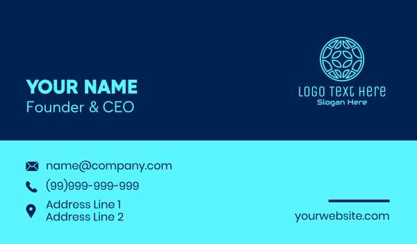 data technology - Global Tech Company Business card horizontal design