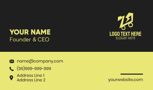online store - Lightning Shopping Cart  Business card horizontal design