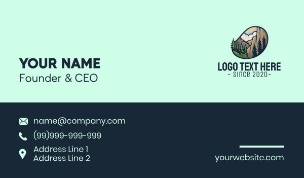 scenery - Outdoor Mountaineering Badge Business card horizontal design