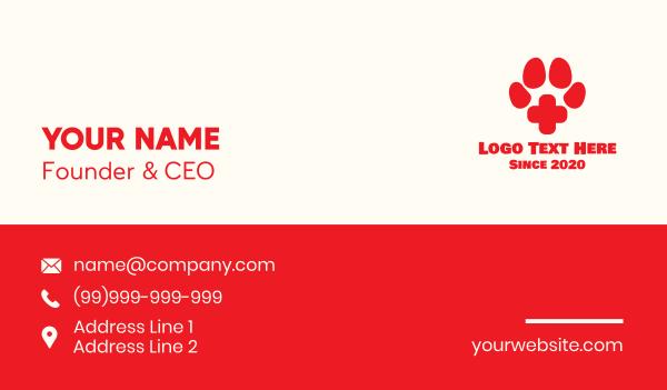 paw print - Pet Paw Veterinary Clinic Business card horizontal design