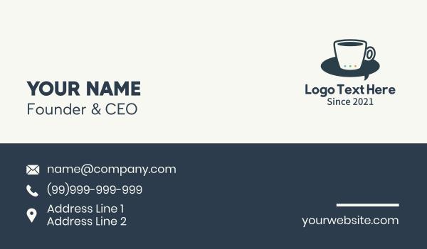 hot choco - Coffee Cup Messenger Business card horizontal design