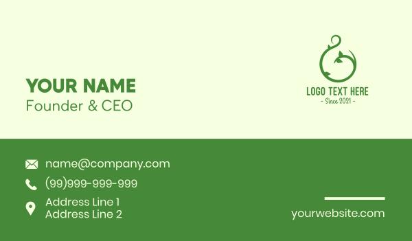 vines - Green Vine Letter G Business card horizontal design