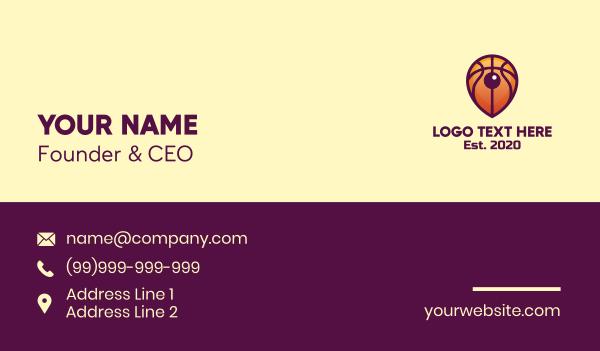 hoop - Basketball Location Pin Business card horizontal design