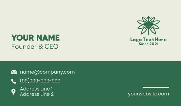 dispensary - Cannabis Dragonfly Business card horizontal design