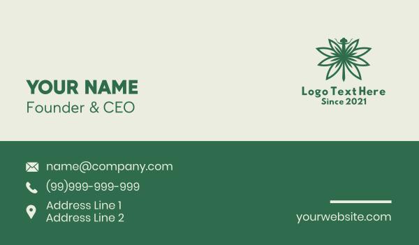 hemp - Cannabis Dragonfly Business card horizontal design