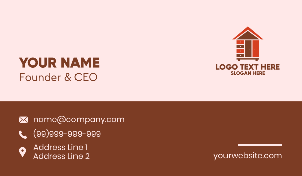 carpentry - Furniture Housing Property Business card horizontal design