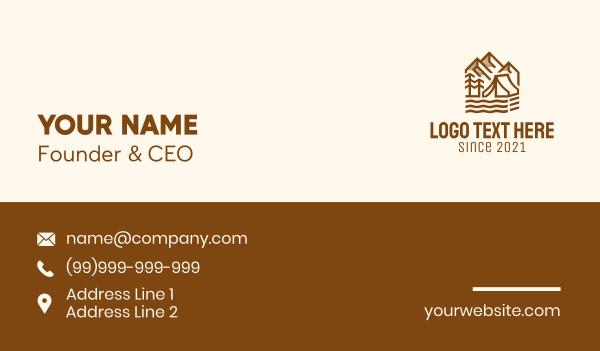 lagoon - Outdoor Mountain Camping  Business card horizontal design