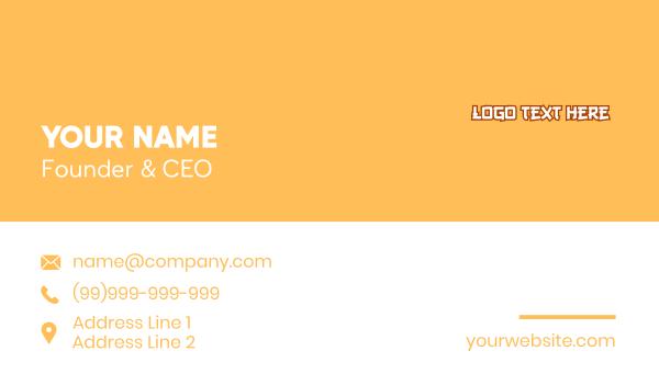 animation - Anime Wordmark Business card horizontal design