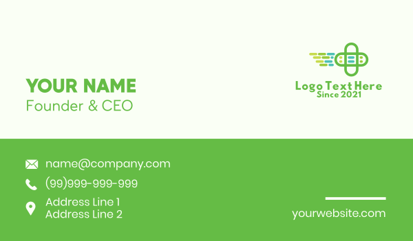 nursing home - Emergency Medical Cross  Business card horizontal design