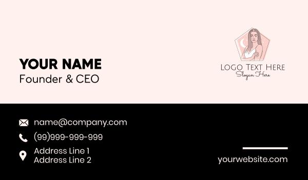beauty parlor - Aesthetic Fashion Woman Business card horizontal design
